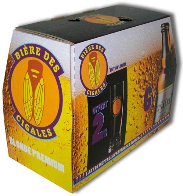 Carton bouteilles de bière