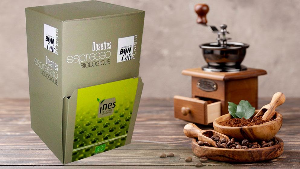 Carton dosettes café
