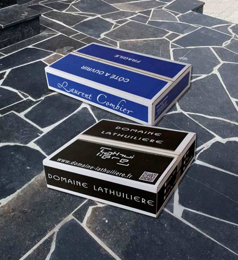 cartons vin à plat Lathuiliere Combier